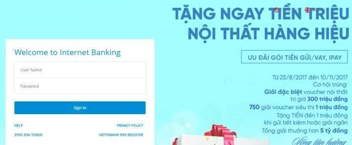 cách đăng ký internet banking của vietinbank